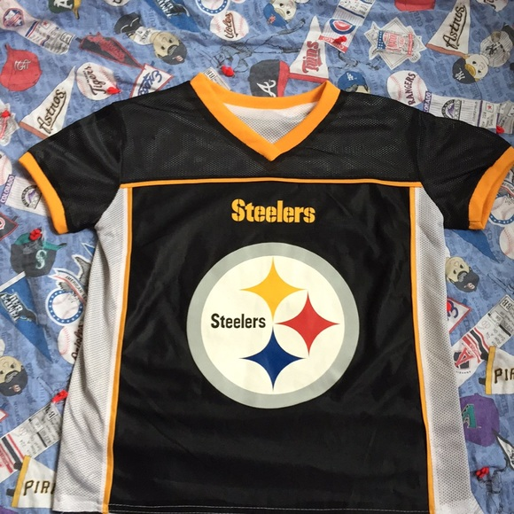 detailed look feeb3 4a55a Pittsburgh Steelers Flag Football Jersey